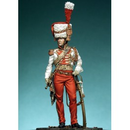 Pegaso models 75mm.Garde-Lanciers, Trompeten-Major vollfiguren.