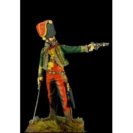 Soldiers SGF 54mm, Officier chef d'escadron du 7ème régiment de hussard .