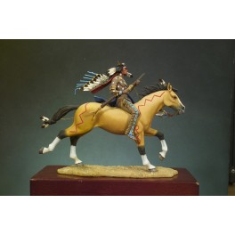 Andrea Miniatures 54mm.Guerrier Sioux. Figurine de collection à monter et à peindre.