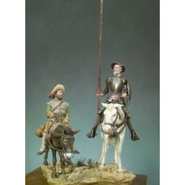 Figurine Andrea miniatures 54mm.Don Quichotte et Sancho Panza.
