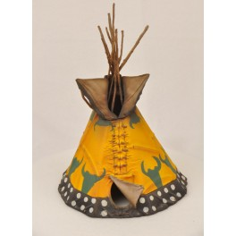 Figurine de collection Andrea Miniatures 54mm Toy soldier ,Tepee indien.