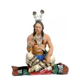Andrea Miniatures 54mm Toy soldier ,Guerrier indien fumant le calumet de la paix.