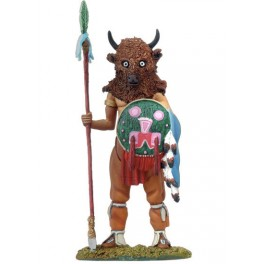Figurine de collection Andrea Miniatures 54mm Toy soldier ,Guerrier Buffalo.