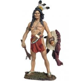 Andrea Miniatures 54mm Toy soldier ,Corbeau Brave ,guerrier indien.