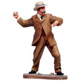 Andrea Miniatures 54mm Toy soldier ,Citoyen lançant une pierre.