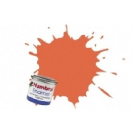 Peinture Humbrol 14ml N82 Orange de garniture mat.