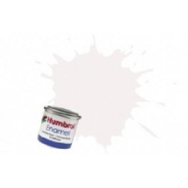 Peinture Humbrol 14ml N130 Blanc satiné.