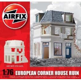 Airfix 1/76e Maison d'angle Hollandaise en ruine.Maquette de diorama.