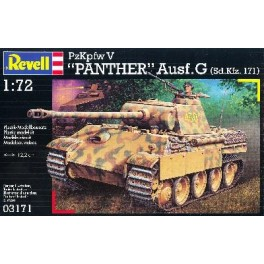 """Maquette """"PANTHER"""" PzKpfw V Ausf G . Revell 1/72e."""