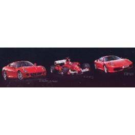 """COFFRET CADEAU """"3 FERRARI"""" (599 GTB FIORANO, F2005, F430) Maquette Revell 1/24e."""