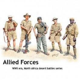 ENSEMBLE TROUPES ALLIEES EN AFRIQUE DU NORD 1941/1943 1/35e Master Box.