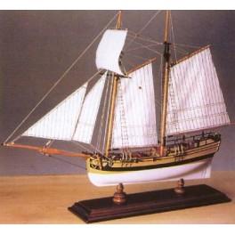 HANNAH GOELETTE AMERICAINE 1775 1/70e Amati.
