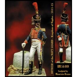 Figurine Officier de la Garde Marine  Royaume de Naples 1811-1815 Romeo Models 54mm