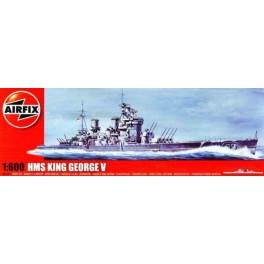 HMS KING GEORGE V CUIRASSE BRITANNIQUE. Maquette de bateau. Airfix 1/600e