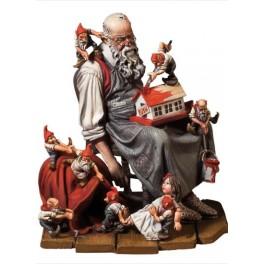 Andrea miniaturen,54mm.Santa's Verschnaufpause.
