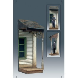 Andrea miniatures ,54mm.Western Clapboard Sidewalk Section.