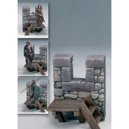 Andrea miniatures,54mm.Medieval Firing Step.