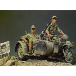 Andrea miniatures,90mm.Afrikakorps,BMW,R75.